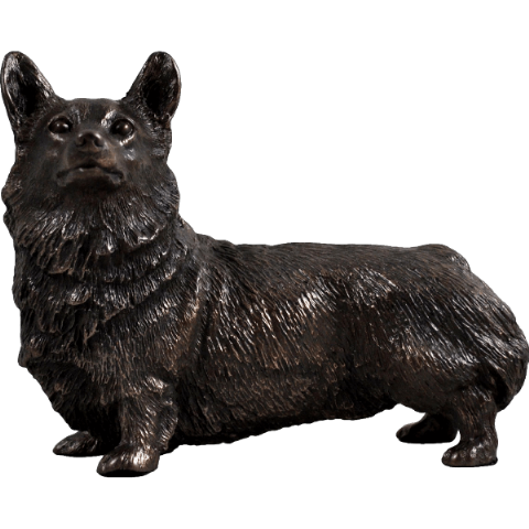 Corgi Cold Cast Bronze Sculpture